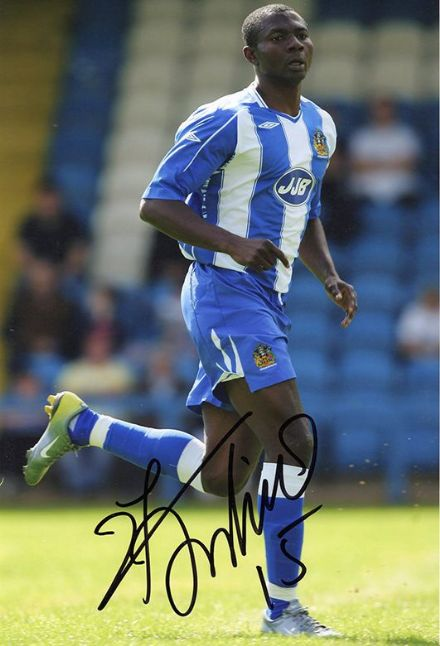 Julius Aghahowa, Wigan Athletic & Nigeria, signed 12x8 inch photo.